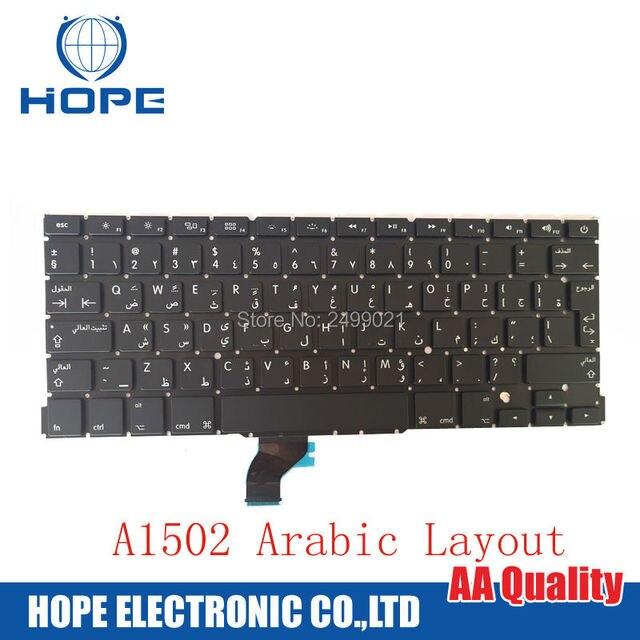Новый Арабский Клавиатура Для Apple Macbook Pro Retina 13 ''A1502 Арабский AR Клавиатура 2013 2014 2015
