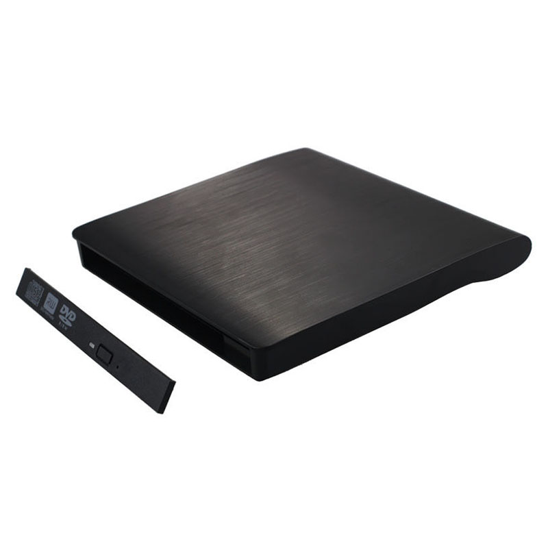 USB 3.0 Mobile External Case For 12.7mm SATA CD DVD BD-ROM BD-RE Drive BK Useful