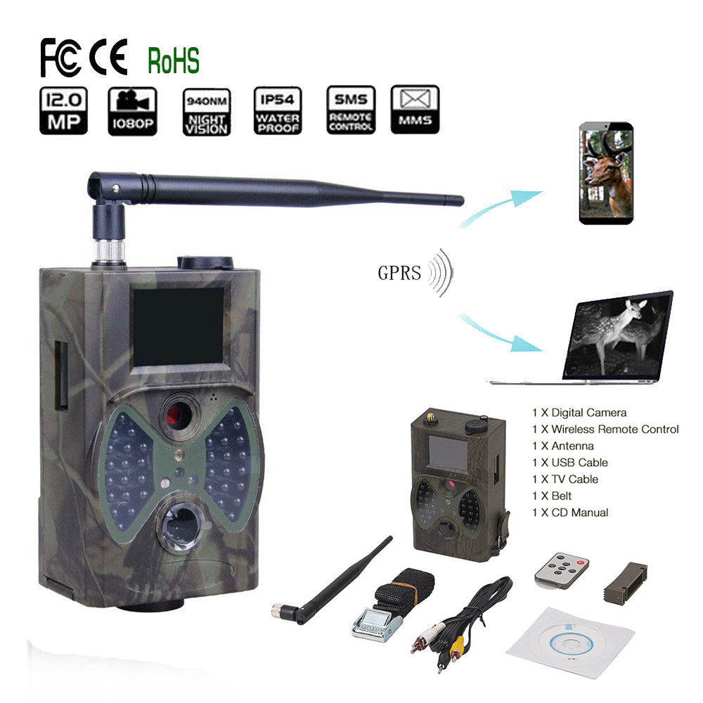 940NM Scouting Hunting Camera HC300M New HD 1080P GPRS MMS Digital Infrared Trail Camera GSM 2.0' LCD IR Hunter Cam HC 300M hd infrared hunting camera gsm gprs mms hunting camera trail camera 12mp free shipping by hong kong post registered air mail
