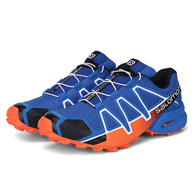 new concept 31e56 dc4bb US $40.84 5% OFF|Salomon Men's Speedcross 4 CS Running Trail Shoes & Spare  Quicklace Kit Bundle Trail Jogging Shoes Big Size 40 48-in Running Shoes ...