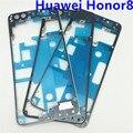 Nova caixa de bateria traseira do meio moldura quadro placa de suporte de peças de reparo de substituição para huawei honor 8 honor8