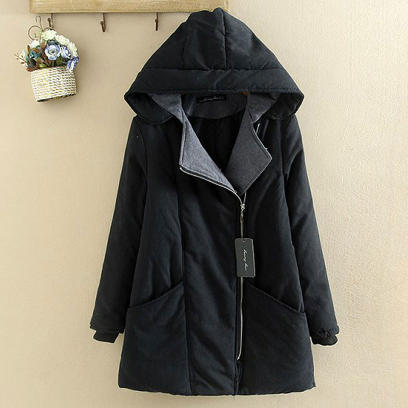 2019 Winter Clothing Plus Size Cotton Coat Female Long section Loose Down Cotton Warm Hooded Jacket Women Winter   Parkas   x251