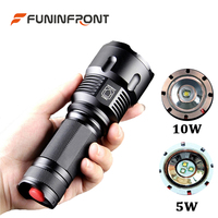 10W Powerful CREE XM L T6 Handheld Zoom LED Flashlight 3 Light Modes, Bright 3 IN 1 Light Sources LED Torch for Outdoor Fishing