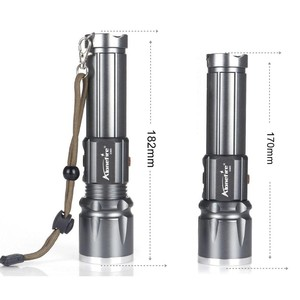 Image 2 - AloneFire X900 CREE XM L2 T6 Aluminum Outdoor LED Flashlight Torch Zoom Zaklamp lantern For 26650 or 18650 Rechargeable Battery