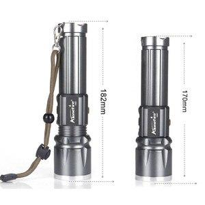 Image 2 - Фонарик AloneFire X900 CREE XM L2 T6, алюминиевый уличный светодиодный фонарик с зумом, перезаряжаемый аккумулятор для 26650 или 18650