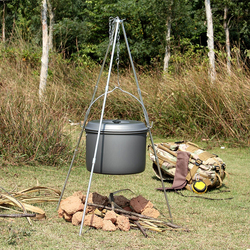 Novo Hanging Pot Camping Piquenique Cozinhar Tripé Portátil Tripé Fogueira Ao Ar Livre Grill Carrinho com Saco De Armazenamento