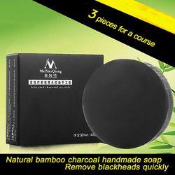 Handmade soap bamboo charcoal skin care treatment natural skin whitening soap blackhead remover acne treatment control.jpg 250x250