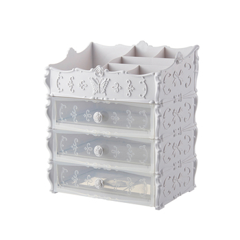 Plastic Drawer Storage   Plastic Cosmetic Drawer Container Makeup Organizer Box For Storage Make Up Jewelry Nail Holder Home Desktop Sundry Storage Case