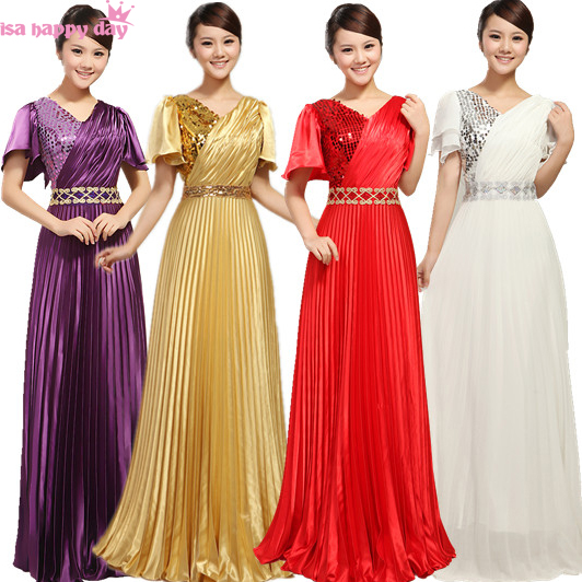 special occasion all purple long modest women gold   bridesmaid     dress   bridemaids brides maid   dresses   2019 with cap sleeve B1716