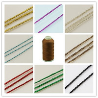 Golden Color Background Metallic Cord Colorful 1mm About 180m Roll