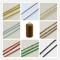 180m/roll 1mm Background Metallic Cord Golden/Green/Chocolate/Colorful Color cord wire diy jewelry crafting findings