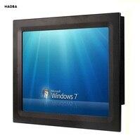 Sonnenlicht Lesbar 15 zoll Industrie Lüfterlose Panel PC, Core i3 CPU/4 GB RAM/320 GB HDD, 2COM/4USB, 15