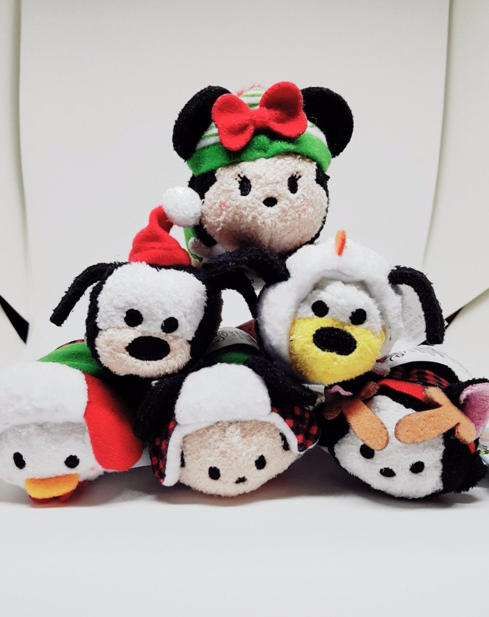 Confiado Tsum Mini Peluche De Juguete De Navidad Mickey Minne Daisy Pato Donald Figaro Gato Goofy Pluto Perro Lindo Limpiador De Pantalla Kplush De Juguete De Regalo
