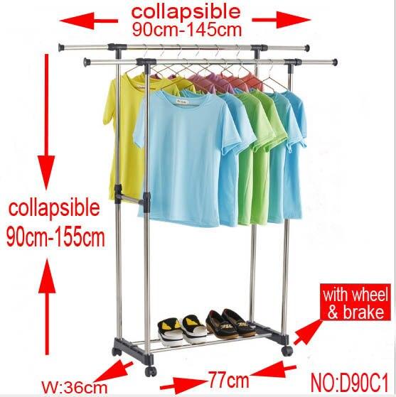 ground Clothes rack