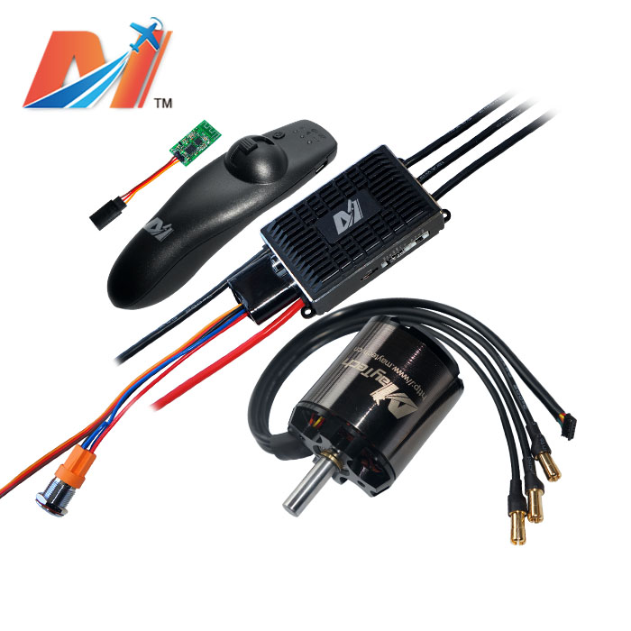 Maytech <font><b>brushless</b></font> <font><b>motor</b></font> 5065 <font><b>270kv</b></font> and super esc based on vesc and remote control for electric mountainboard image