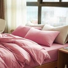 100% трикотажные хлопок пододеяльник набор твин королева король размер постельных принадлежностей одеяло обложка постельное белье наволочки для лето/весна