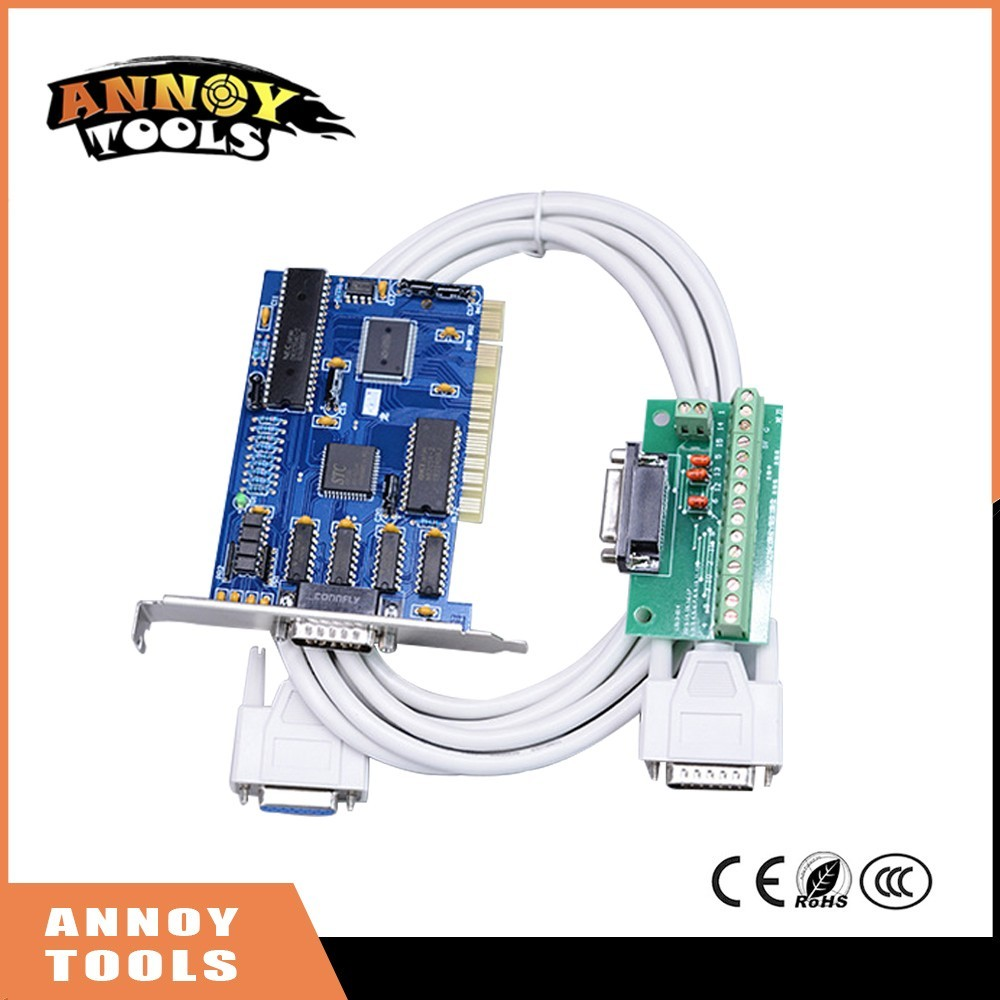 Free Shipping 3 axis NC Studio PCI motion ncstudio control card set for CNC router Engraving Milling machine