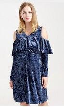 KI1 KI34 2017 Casual Maternity Dresses Pregnancy Dress for Pregnant Women Loose Knee length Ropa Premama