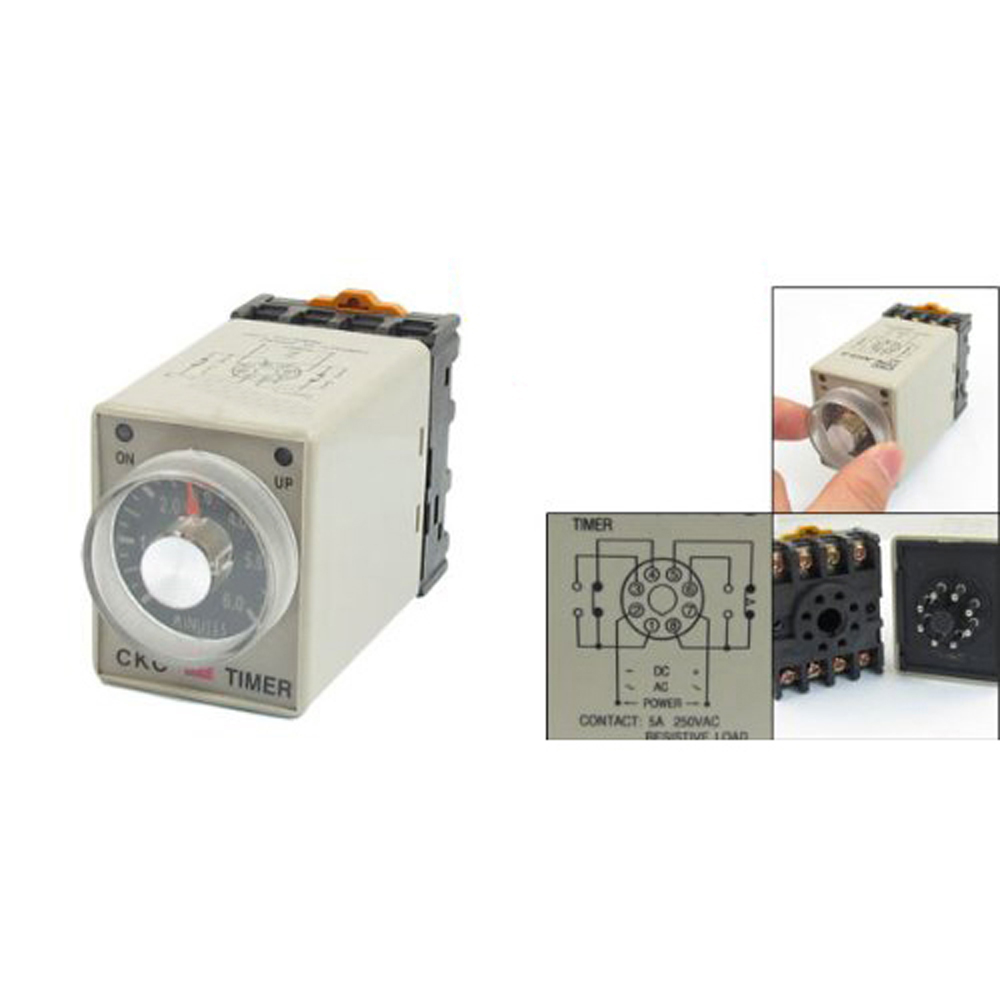 Cofa Amico 0 6 Minutes 8 Pin Plastic Housing Delay Timer Time 3pcs Dc 12v Relay Module Turn On Off Ah3 3 W Base