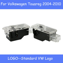 2 шт. логотип призрак проектор для V-W Touare-g 2004-2010 светодиодный светильник двери автомобиля Добро пожаловать лазерный проектор логотип