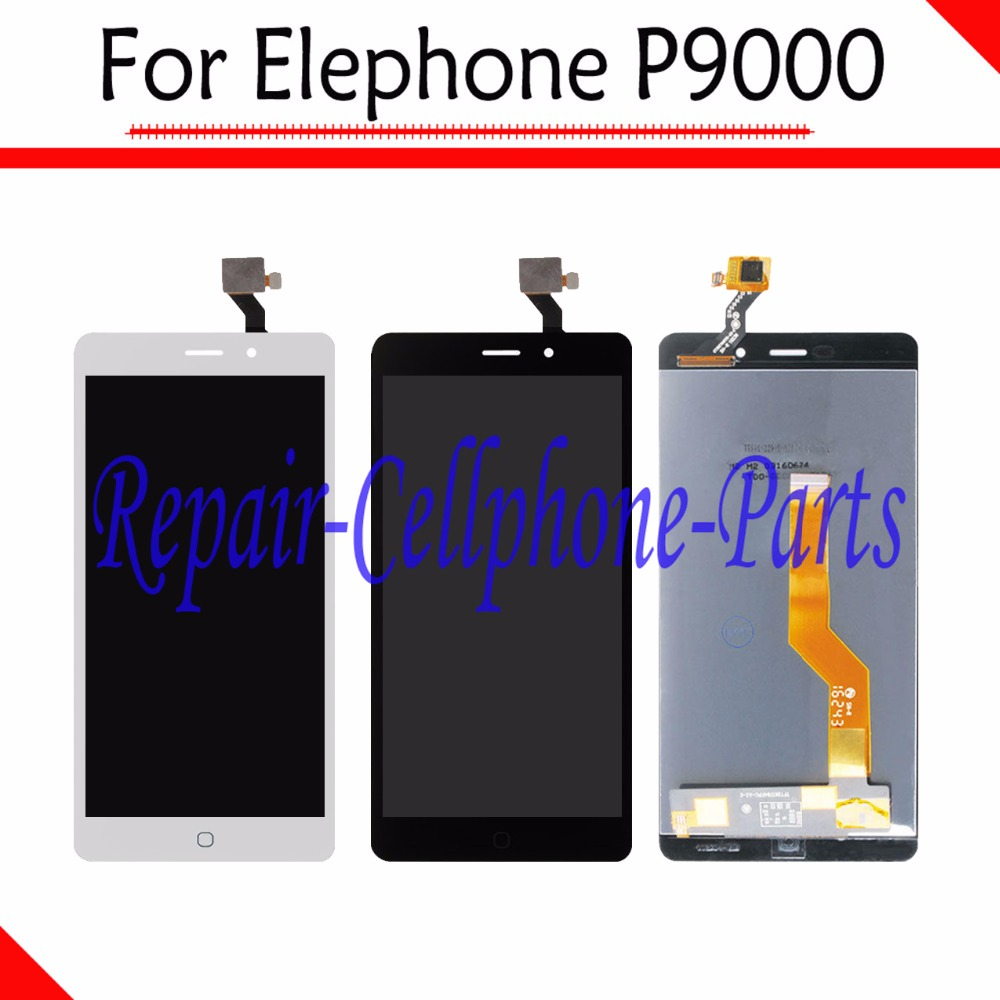 100% New Full LCD DIsplay + Touch Screen Digitizer Assembly Replacement For Elephone P9000 / P9000 Lite Tracking Number