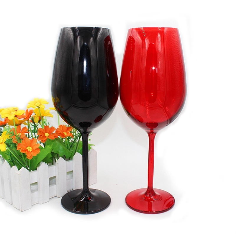 Creative European crystal glass red wine home black decoration cabinet colored goblet
