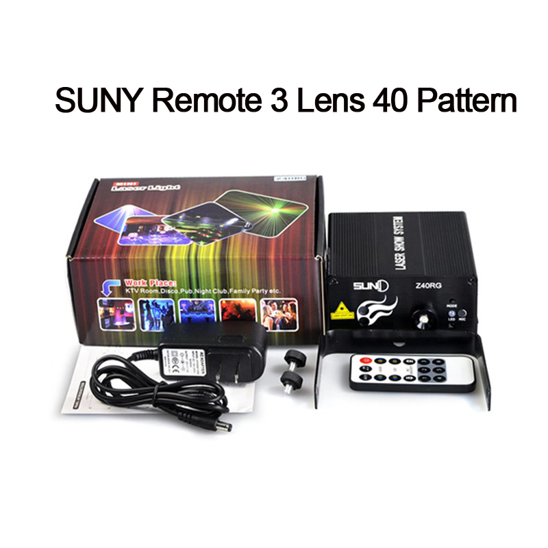 New 3 Lens Led Laser Stage Lighting Effect Blue Red RB 40 Patterns Club Bar DJ Dance Party 300mw show Projector Light brand new scn at flt15 0 w04 0h1 r e314634 touch screen glass well tested working three months warranty