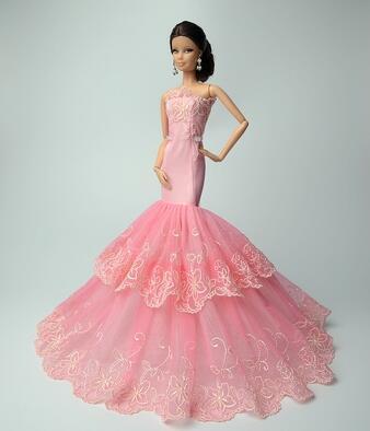 இEl nuevo caso para muñeca barbie ropa de moda hermoso vestido de ...