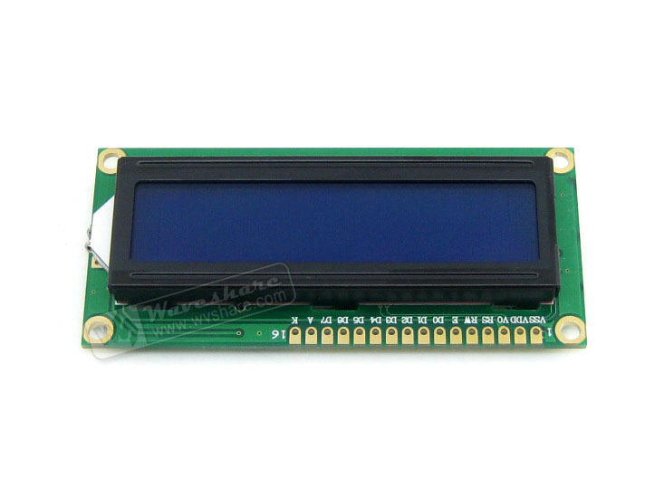 LCD1602 High Definition Blue Backlight White Character LCD LED Module TN/STN Module 16 Characters*2 Lines 3.3V For Logic Circuit
