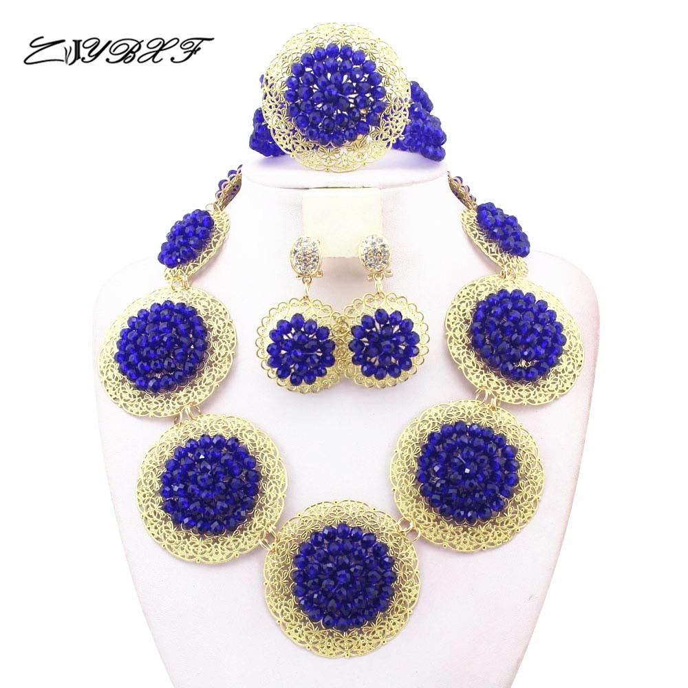 b8e4b45de671d1 ⊹Élégant Bleu Royal Mariage Nigérian Perles Africaines Ensemble de ...