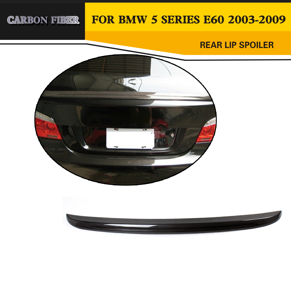 Carbon Fiber Rear Spoiler Auto Car Trunk Wing Lip Spoiler For BMW E60 525 530 2003-2009 paint abs car rear wing trunk lip spoiler for nissan qashqai 2008 2009 2010 2011 2012 2013 fast by ems
