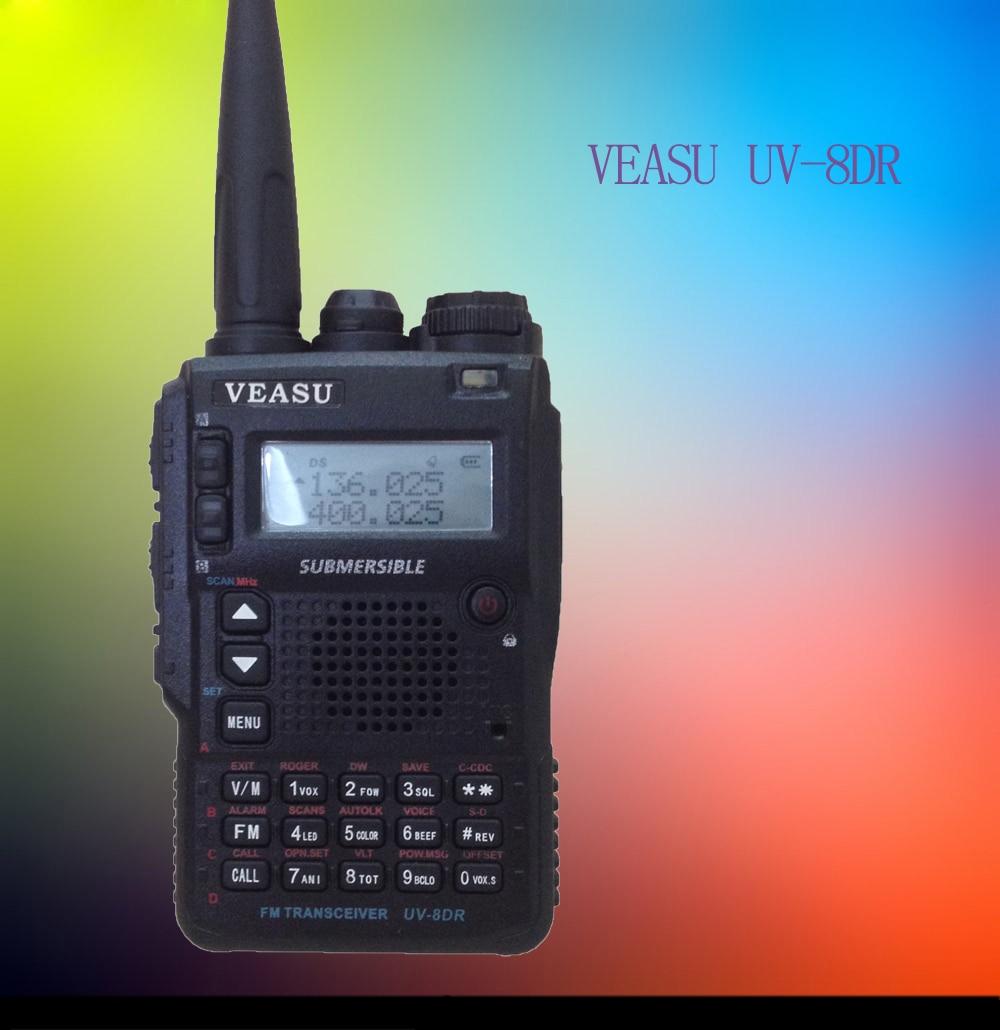 VEASU UV-8DR Tri BandWalkie Walkie professionnel Deux-Way Radio sœur VX-8DR VX-6R baofeng uv 9r Jambon Radio HF Émetteur-Récepteur
