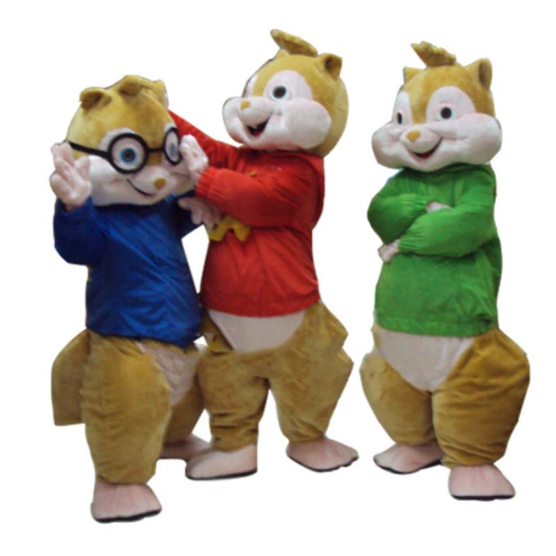 2016 Hot Sale! High quality New Alvin and the Chipmunks Mascot Costume Alvin Mascot Costume Free Shipping