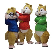 2016 Hot Sale! High quality New Alvin and the Chipmunks Mascot Costume Free Shipping