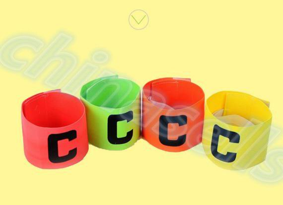 Football Soccer Flexible Sports Adjustable Player Bands Fluorescent Captain Armband Hockey Rugby Skippers Armbands