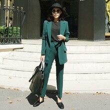 Women's Pants Suit Office Ladies Formal OL Pants Work Wear 2Pcs Sets Female Formal Work Wear Sets Jacket+Pants