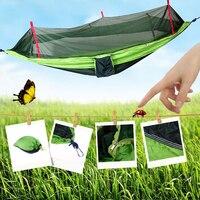 Outdoor Hammock Mosquito Net Travel Camping Hammock Portable Parachute Fabric Mosquito Net Hammock For Indoor Outdoor