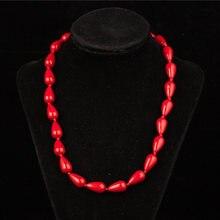 Amourjoux богемное красное ожерелье чокер из натурального камня