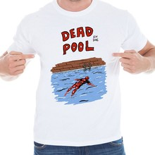 Deadpool 2016 New Fashion Summer Style Design Men T shirt The Theory T-shirts Men Swag Funny Short Sleeve Tshirts