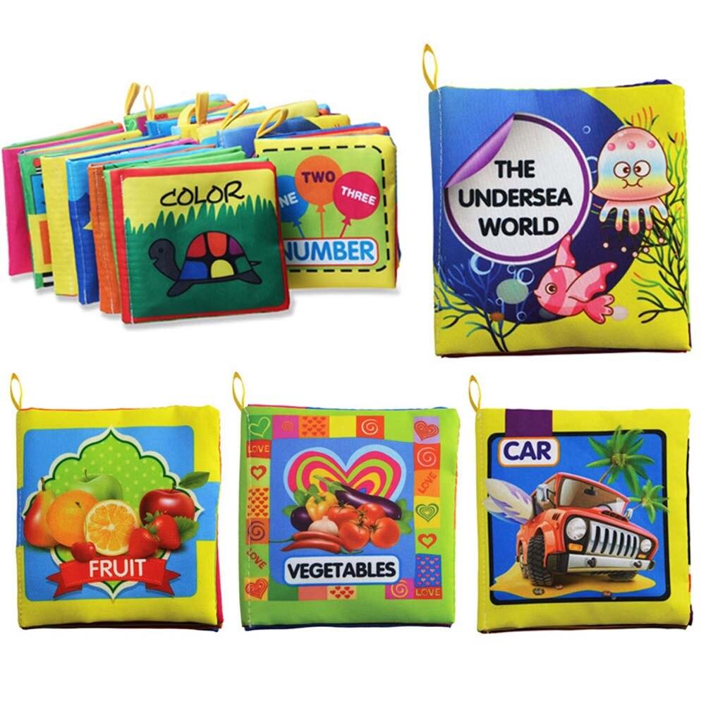 Baby Toys Мягкой Тканью Книги Шелест Звуковые Коляски Погремушка Младенческой Обучения в Раннем Возрасте Развивающие Игрушки Новорожденный Кроватки Кровать Toys 0-36 Месяц