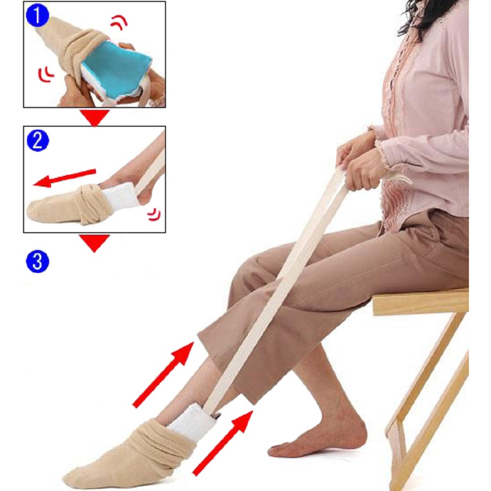Dropshipping 2018 Flexible Sock and Stocking Aid-Help Put Socks On Mobility Disability Aid Foot Care Tool disability