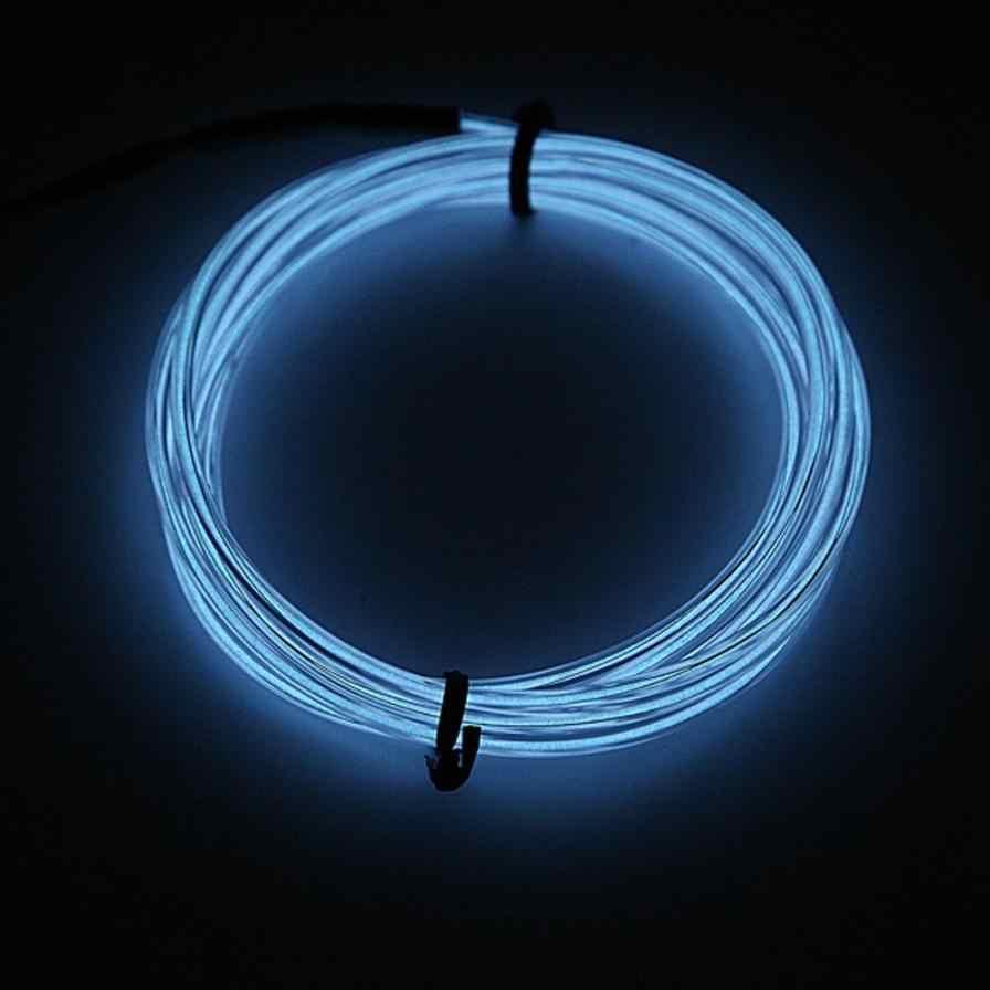 Автомобиль-Стайлинг Led EL провода трубки веревки гибкие неоновые светящиеся автомобильные вечерние светильник 12 в контроллер jn28A