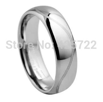 width 6mm all range of US Size 7/7.5/8/8.5/9/9.5/10/10.5/11/12 men ring Tungsten wedding band curve line laser wholesale