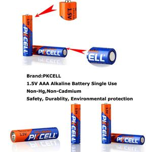 Image 4 - 48 X PKCELL LR03 1.5 V بطارية AAA قلوية البطاريات الجافة E92 AM4 MN2400 MX2400 1.5 فولت AAA بطارية 3A bateria Baterias