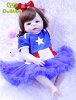 Doll baby reborn 2357cm full silicone reborn baby girl dolls realistic newborn babies alive can bathe Bebes reborn bonecas