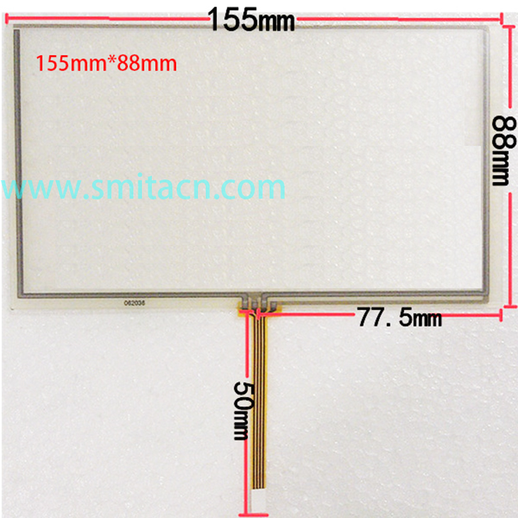 6.2 inch General 4 wire resistive 155*88 155mm*88mm HSD062IDW1 touch glass digitizer Screen car-DVD Touch screen
