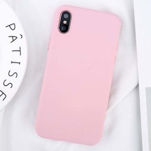 Simple Plain Phone Case Slim Frosted Hard Back Cover For iPhone 5, iPhone 6, iPhone 7, iPhone 8, iPhone X