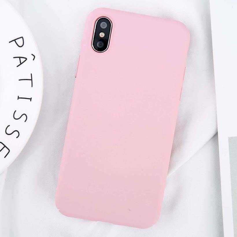 Uslion Cho Iphone 11 Pro Max X XS Max XR 8 7 Đồng Bằng Điện Thoại Ốp Lưng Mờ Cứng Lưng PC cho iPhone 8 7 6 6S Plus 5 5S SE Trường Hợp