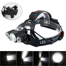 High Power Headlight LED Headlamp Cree XML T6 Waterproof 10000 Lumens Light Rechargeable Head lamps 4 Modes Zoomable +Charger