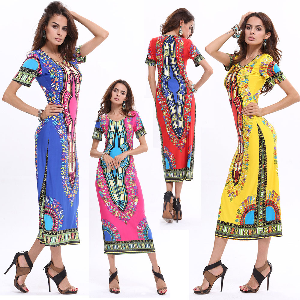 summer traditional african fashion women clothing sexy succunct design dashiki robe longue. Black Bedroom Furniture Sets. Home Design Ideas